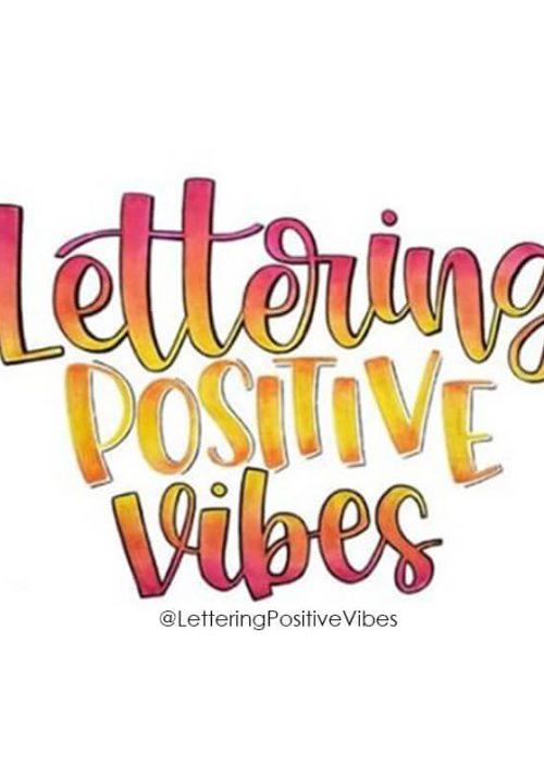 Lettering Positive Vibes Logo