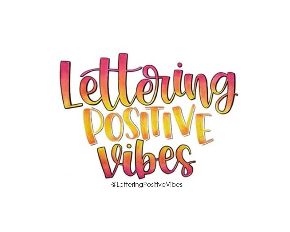 Lettering Positive Vibes Logo. Created by Angélica with @letters_by_gigi