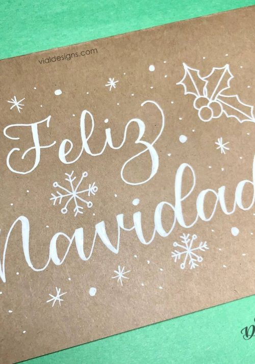 Tutorial DIY para hacer esta Tarjeta de Feliz Navidad fácil de hacer