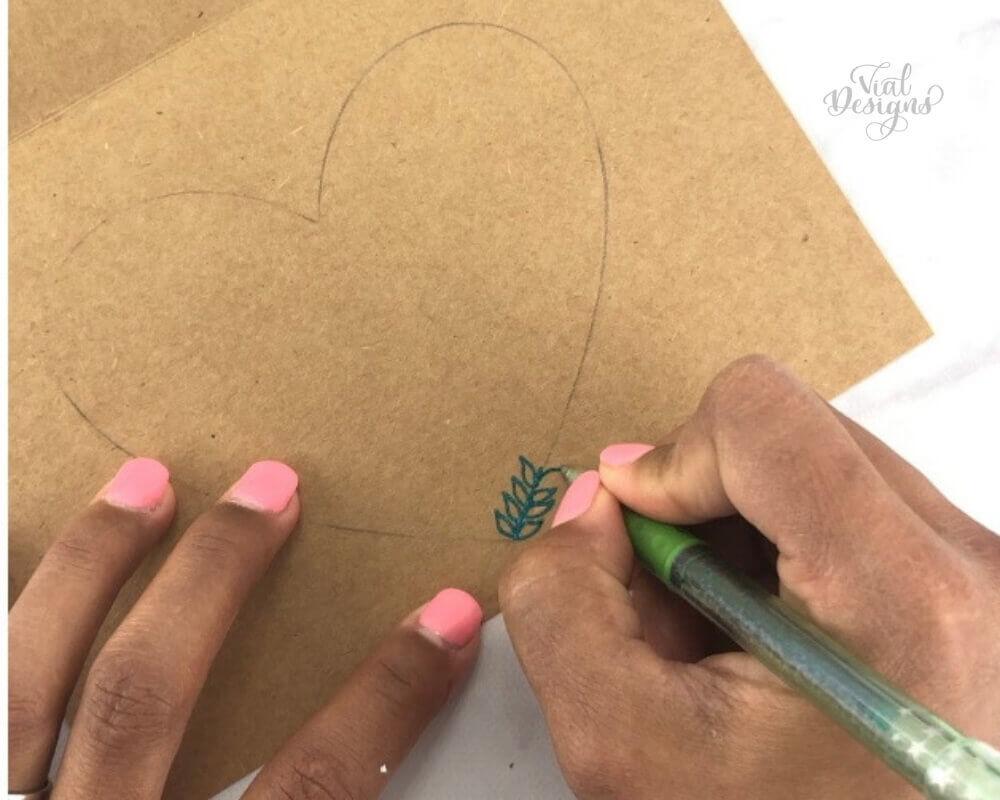Mother's Day DIY Card using a Green Sparkle Pop Metallic Gel pen