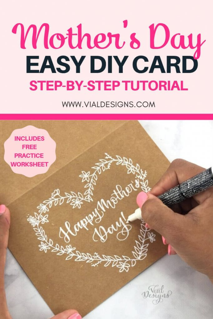 Mother's Day Easy DIY Card Tutorial by Vial Designs