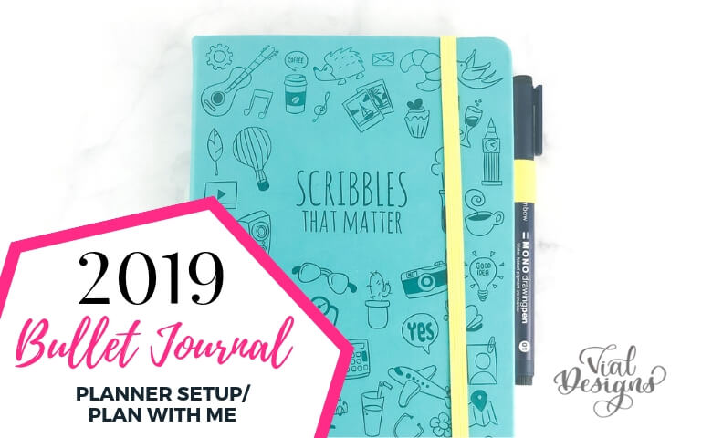 My 2019 Bullet Journal Planner setup by Vial Designs