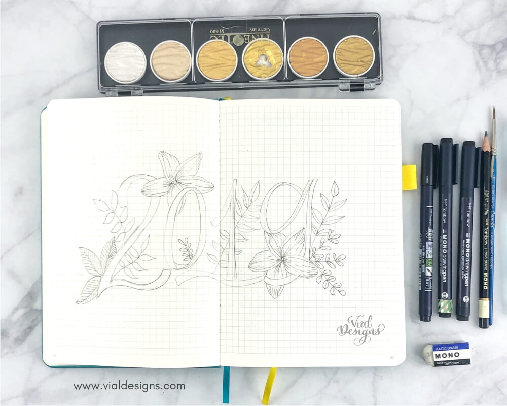 My Bullet Journal Set Up 2019 list of Materials I used   Vial Designs