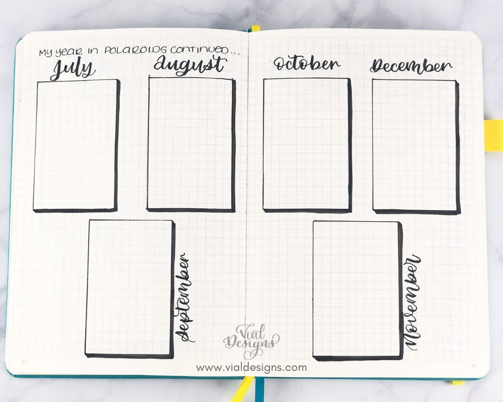 My Bullet Journal Setup 2019 | A Year in polaroids part 2 by Vial Designs