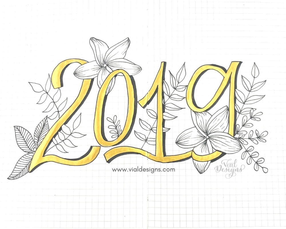 My Bullet Journal Setup 2019_Cover Page by Vial Designs