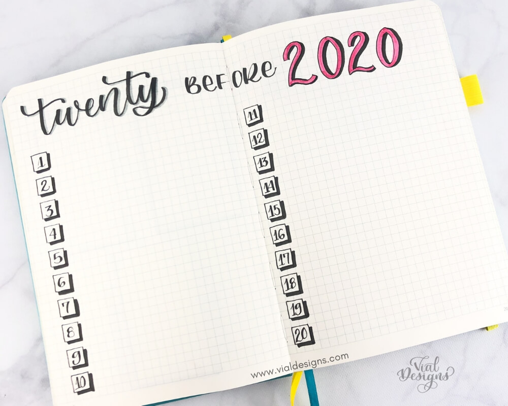 My Bullet Journal Setup 2019_Twenty before 2020 by Vial Designs