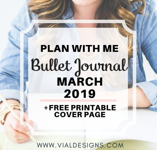 Plan With Me Bullet Journal March 2019 Feature blog image