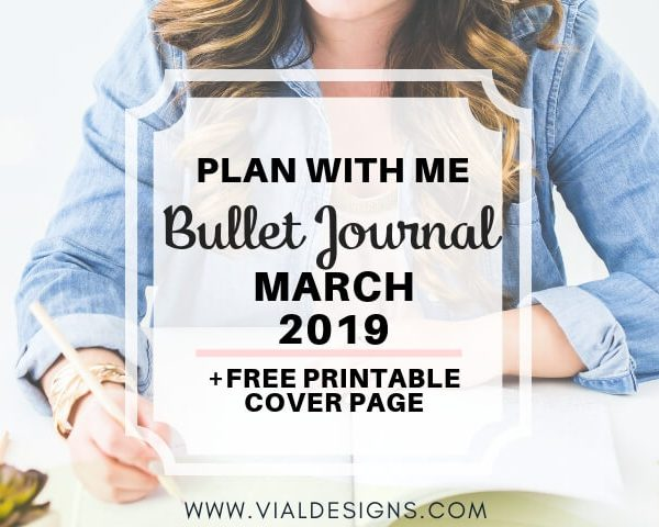 PLAN WITH ME BULLET JOURNAL | MARCH 2019 SET UP