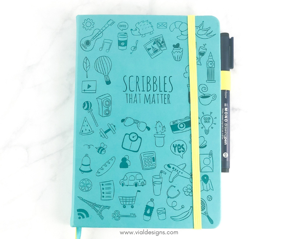 Scribbles that matter notebook_Bullet Journal Setup 2019 by Vial Designs