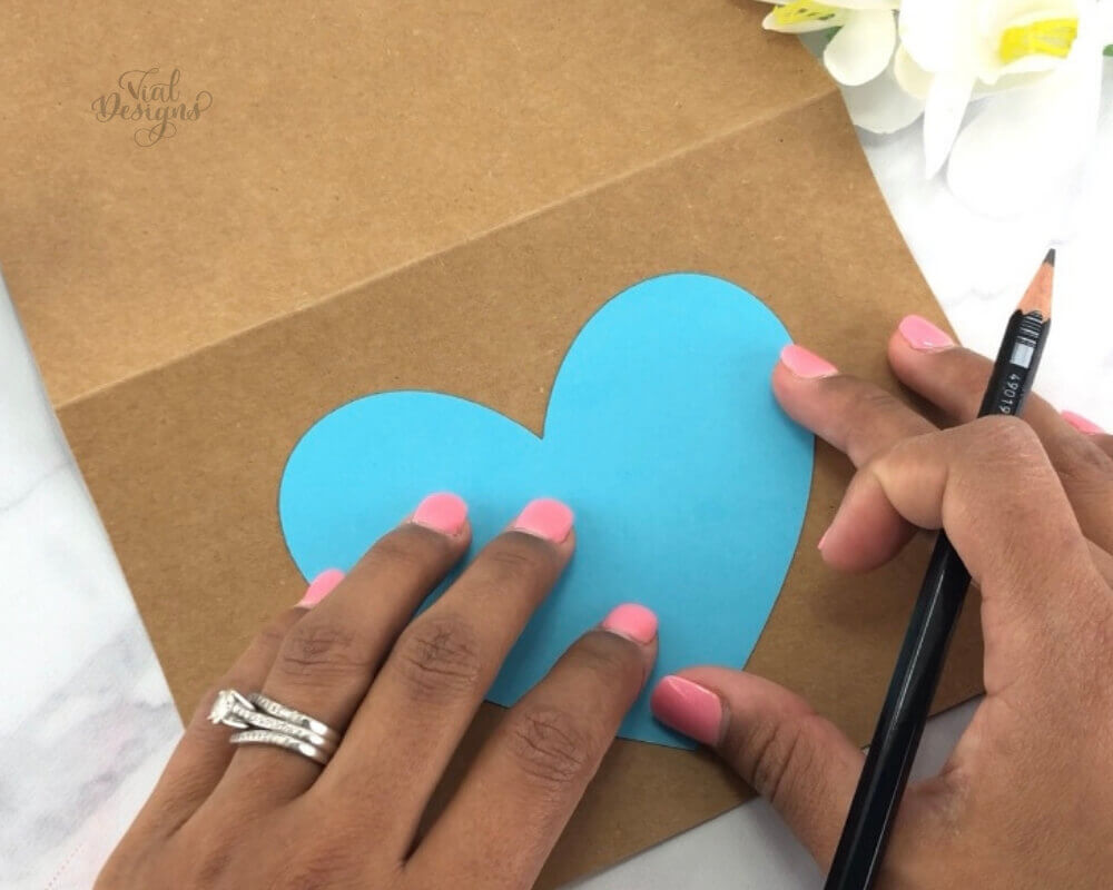 Step 2 Use a heart shaped stencil