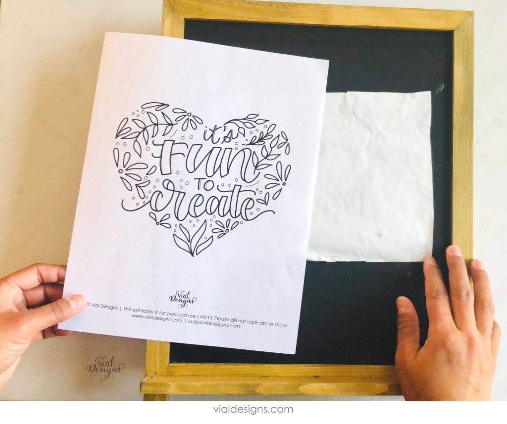 Step 2 of the Chalkboard Lettering Sign Tutorial