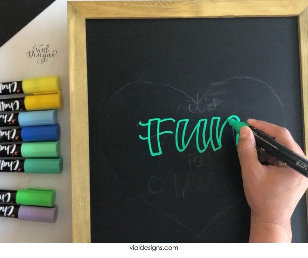Step 3 of the Chalkboard Lettering Sign Tutorial