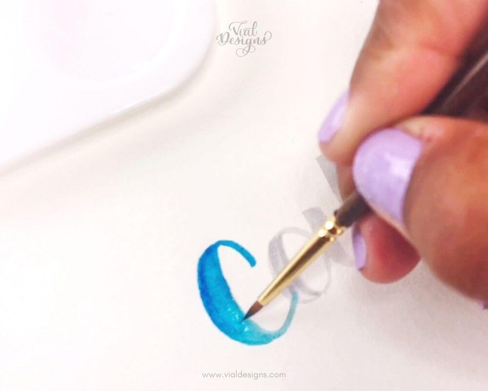 Step 3_Watercolor Blending Lettering Tutorial by Vial Designs