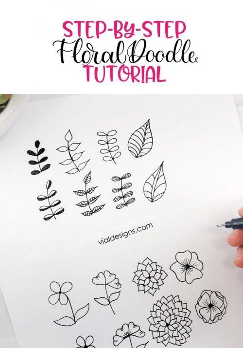 Step-by-Step Floral Doodle Tutorial by Vial Designs