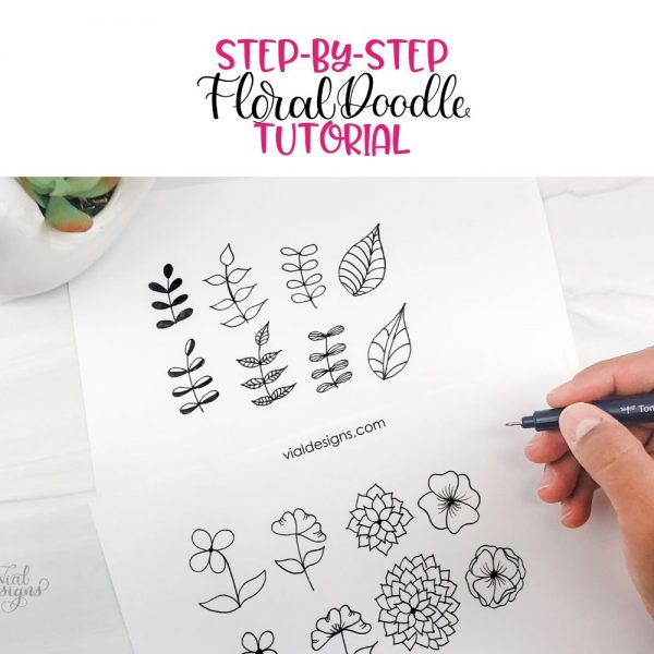 Step-by-Step Floral Doodle Tutorial by Vial Designs