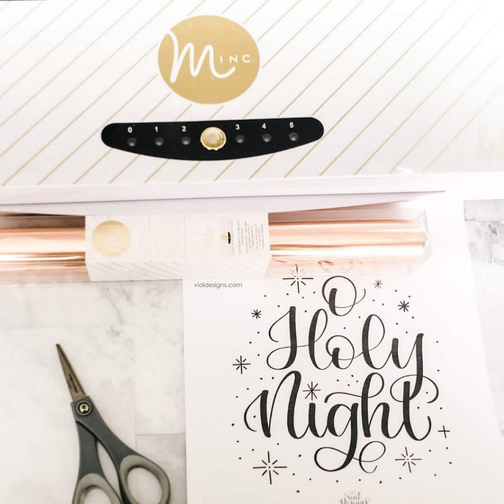 Supplies to complete the How to Foil Christmas Prints Tutorial