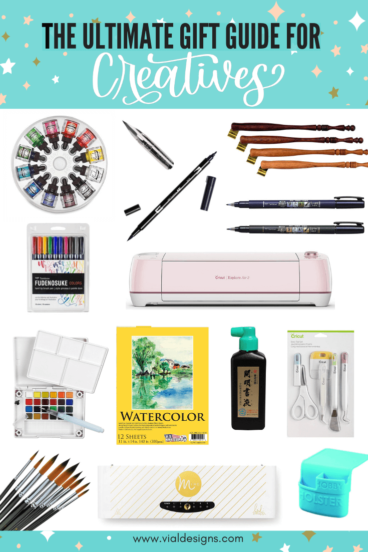 The Ultimate Gift Guide for Creatives | Gift Ideas for the creative person in your life by Vial Designs | Gift ideas for lettering artists, crafters, calligraphers, and watercolor artists