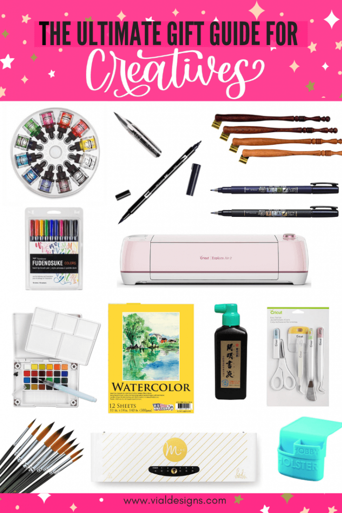 The Ultimate Gift Guide for Creatives by Vial Designs | Gift ideas for creatives | gift ideas for artists | christmas gift ideas for artists and creatives
