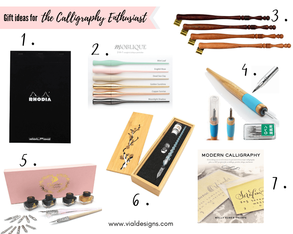The Ultimate Gift Guide for Creatives_ Gift Ideas for the Calligraphy Enthusiast | Vial Designs | Gift Ideas for creators | Gift ideas for crafters