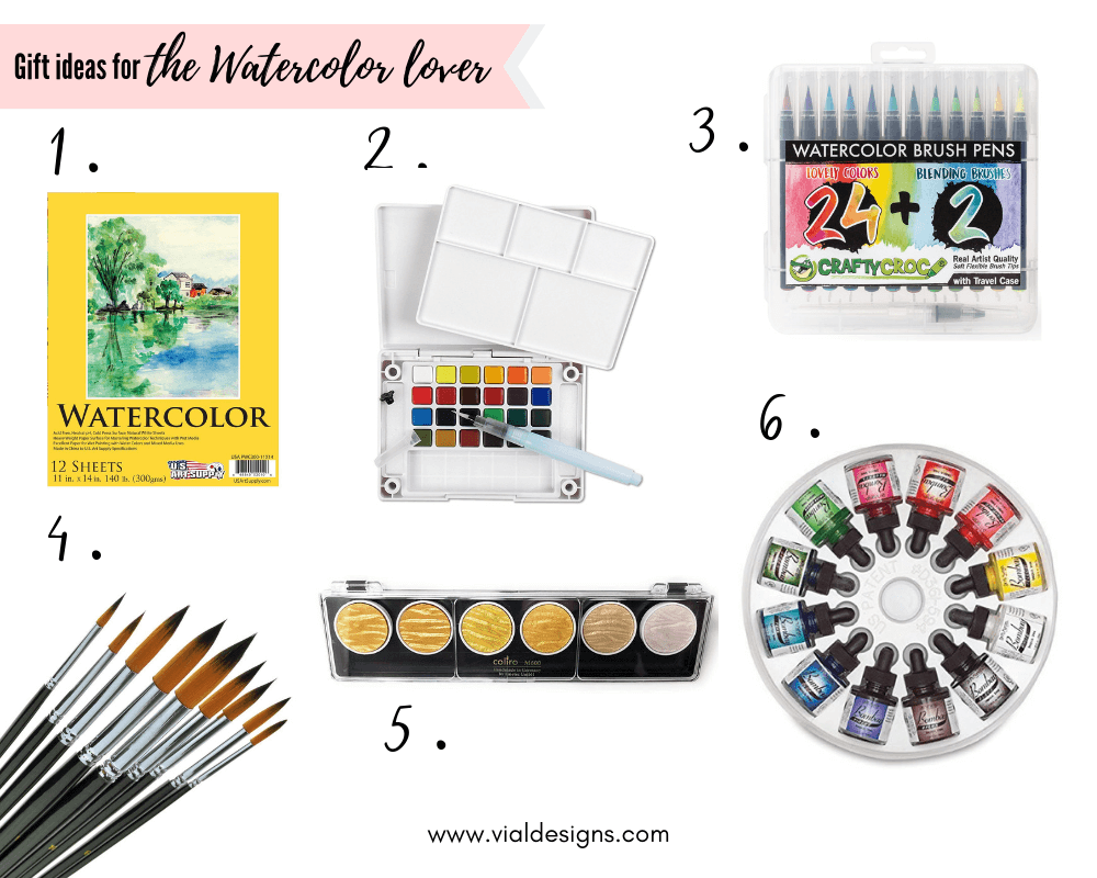 The Ultimate Gift Guide for Creatives | Gift Ideas for the Water Color Lover by Vial Designs | Gift ideas for lettering artists, crafters, calligraphers, and watercolor artists