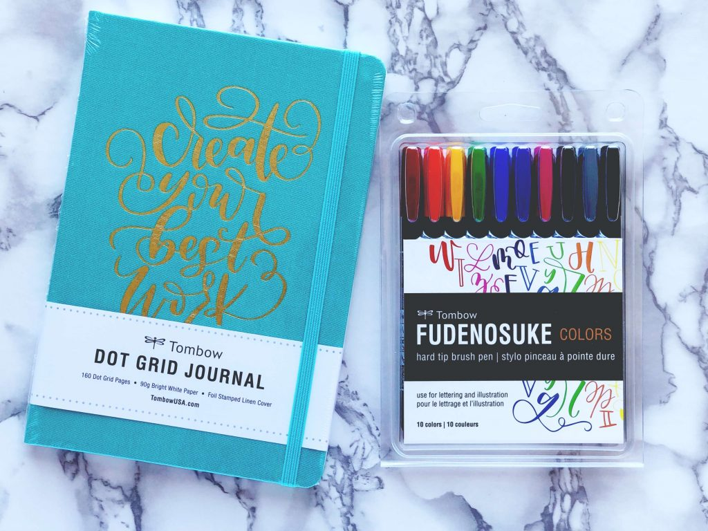 Tombow Dot Grid Journal & Tombow Fudenosuke Colors Giveaway | Vial Designs | Calligraphy Giveaway | Brush Pen Calligraphy Giveaway