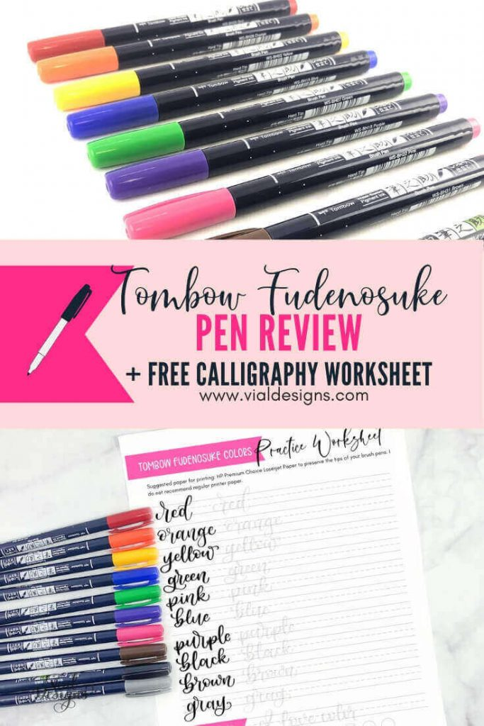 Tombow Fudenosuke Pen Review Plus Free Calligraphy Practice Sheet