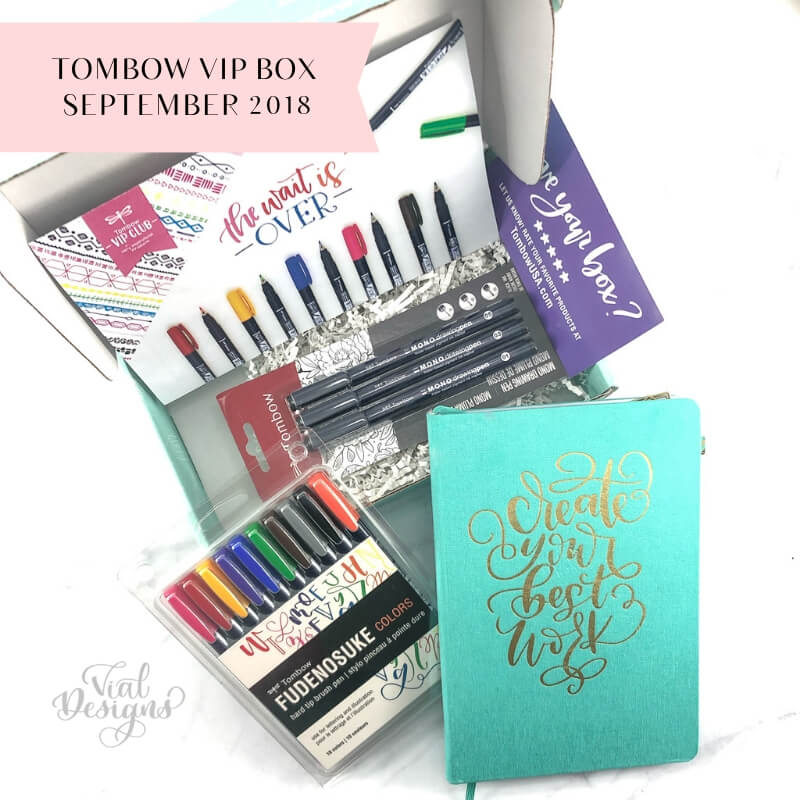 Tombow VIP Box September 2018 Review By Vial Designs