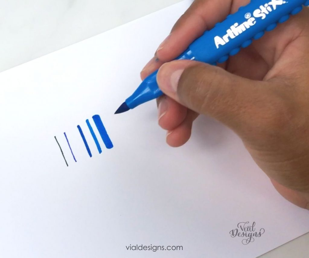 better calligraphy upstrokes being proportional to the size