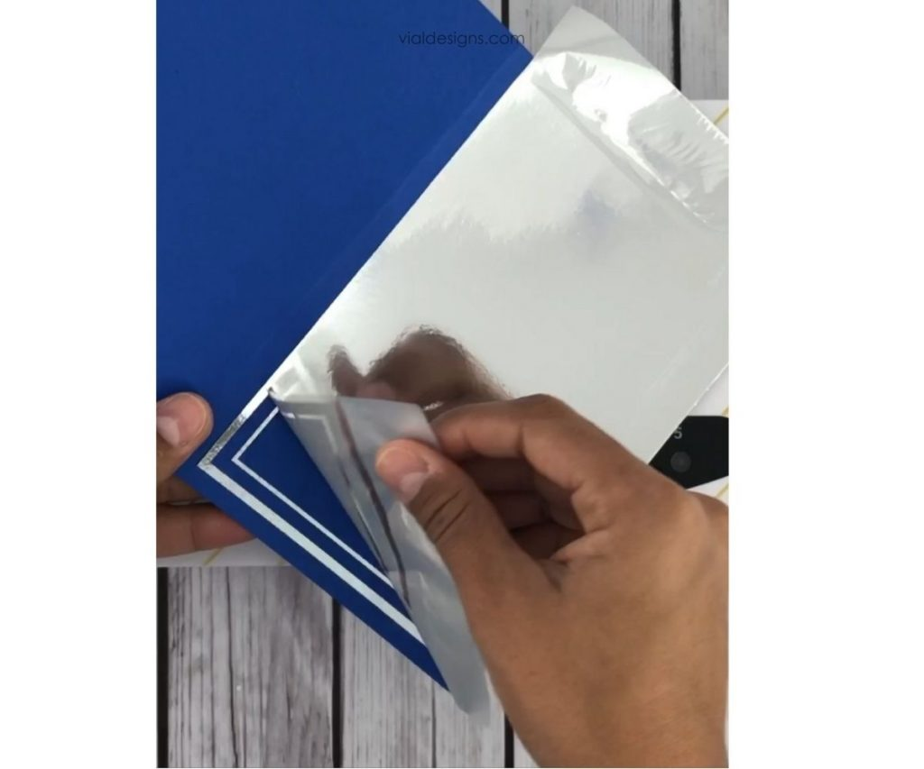 congrats card step 6 peel the foil off